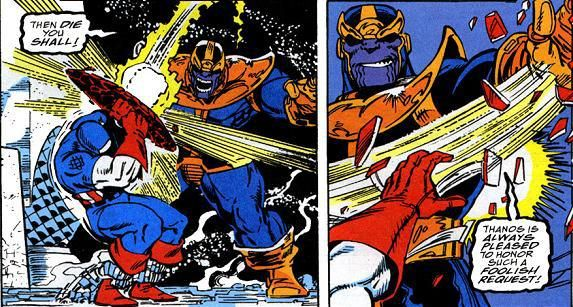 Captain America Battles Thanos In This Mind Blowing New Avengers