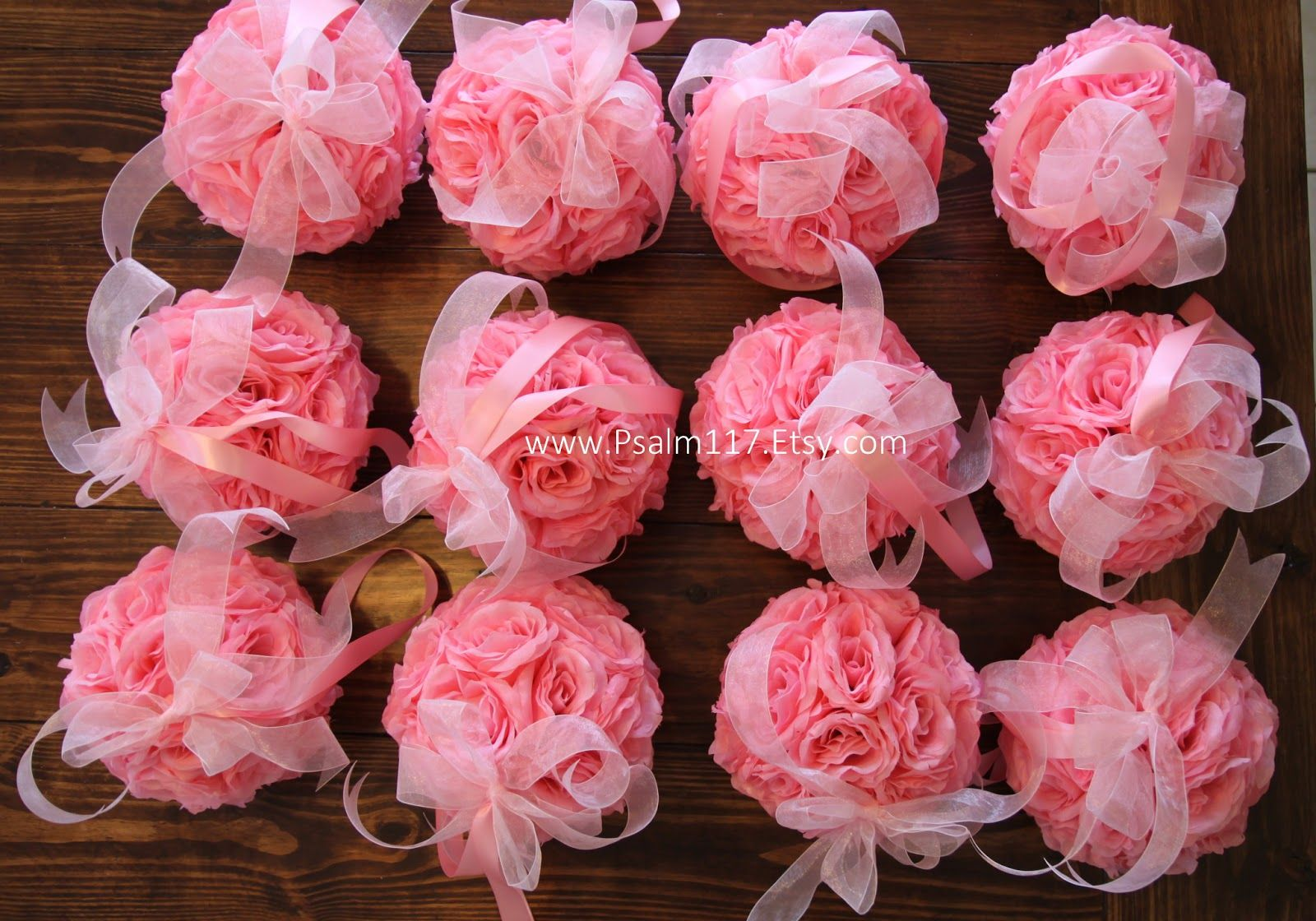 custom+handmade+baby+pink++8+inch+wedding+pomander+kissing+ball+pom+pom+Psalm117.Etsy.com+Psalm+117+wedding+isle+decoration+church+pew+decoration+ceremony+decoration+4.JPG (1600×1120)