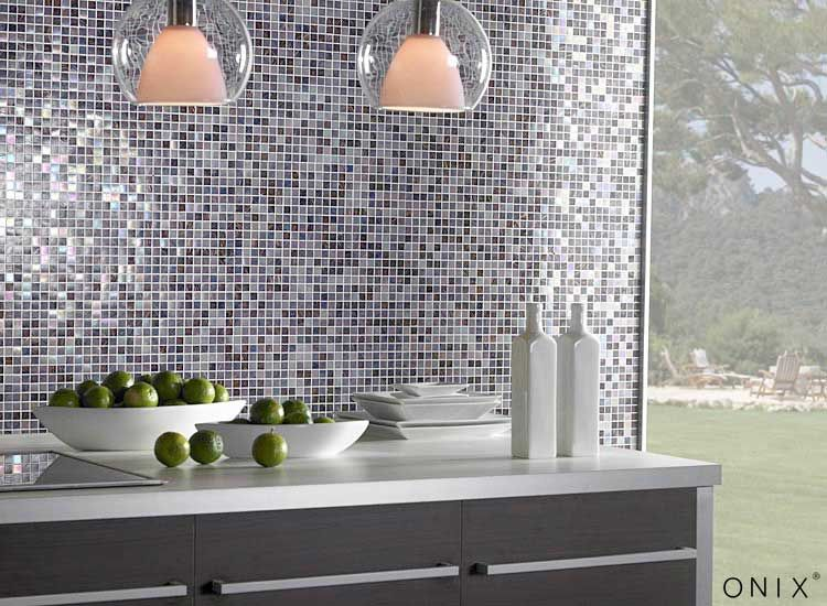 Modern glam with mosaics by Onix