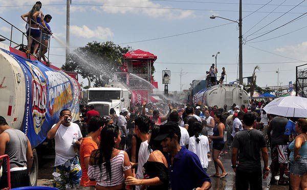 Party in the streets of Panama City for Carnaval.