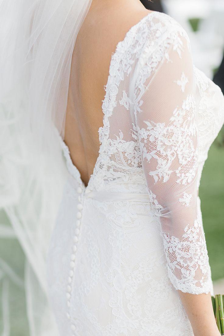Tendance robe de mariée classic lace long sleeve