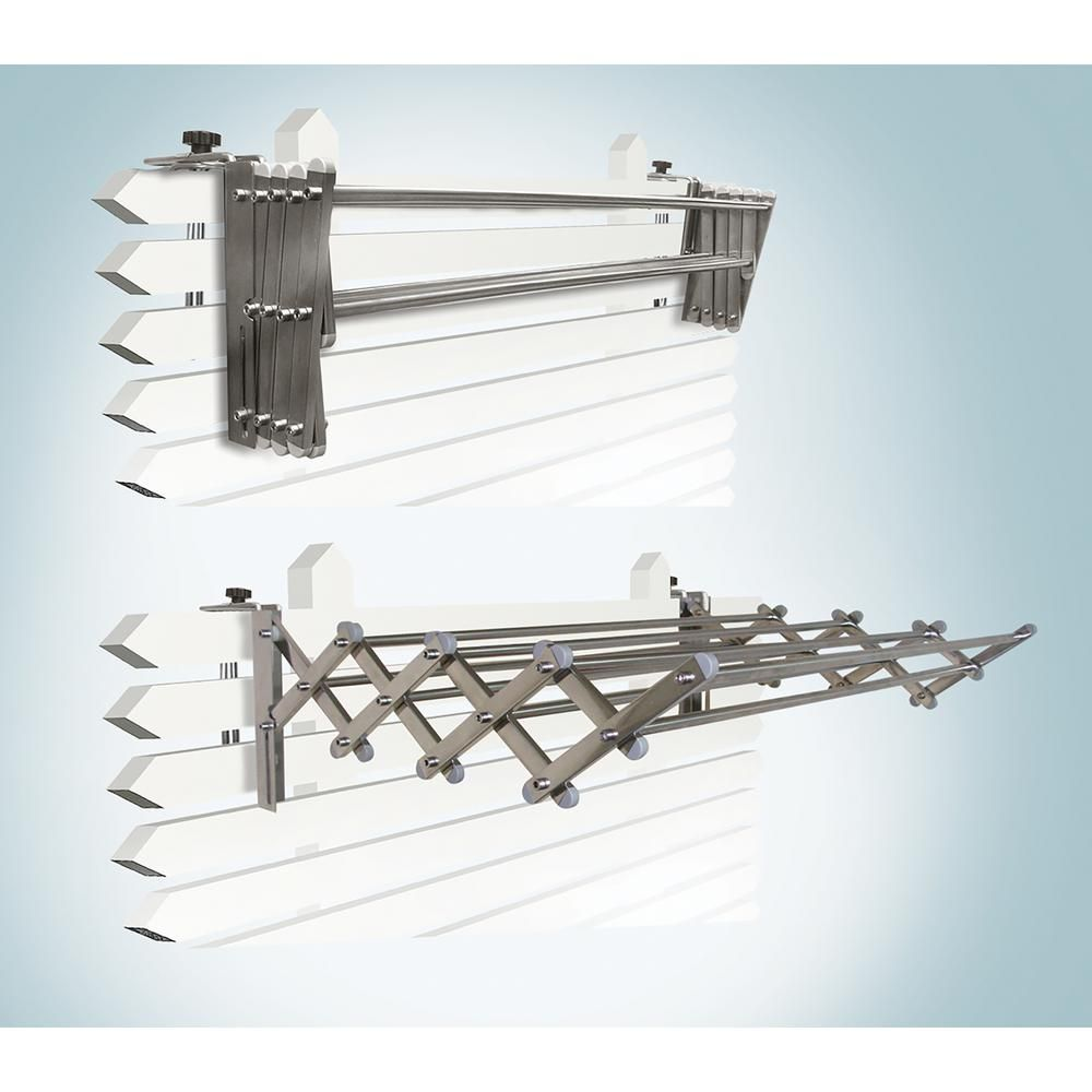 Greenway Indoor Outdoor Foldable Drying Rack With Optional Wall