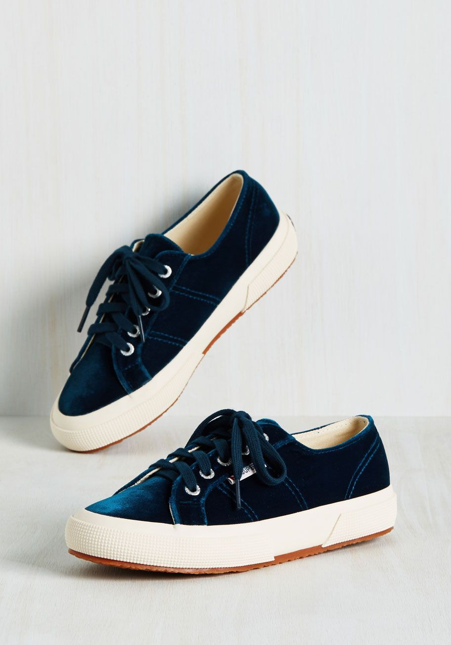 0b516f77ac7 Delve Into Velvet Sneaker. Edit your style to make space for these velvet  sneakers by Superga!  blue  modcloth