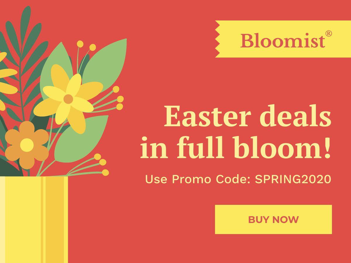 Easter Deals In Full Bloom Facebook Post Template In 2020 Easter Templates Facebook Post Template Templates