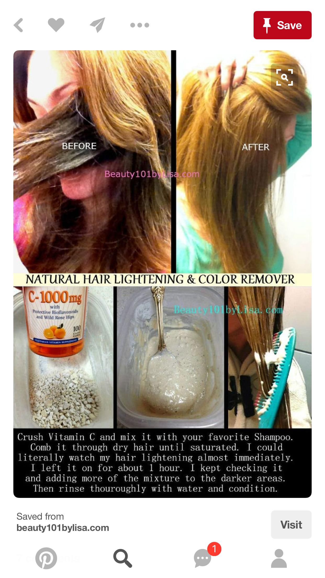 Pin By Johanna Sanchez On Hair Lighten Hair Naturally How To Lighten Hair Lightening Dark Hair