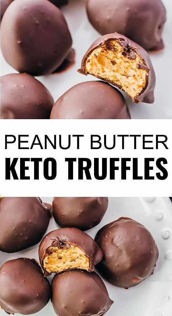 Photo of Keto Peanut Butter Truffles – Savory Tooth