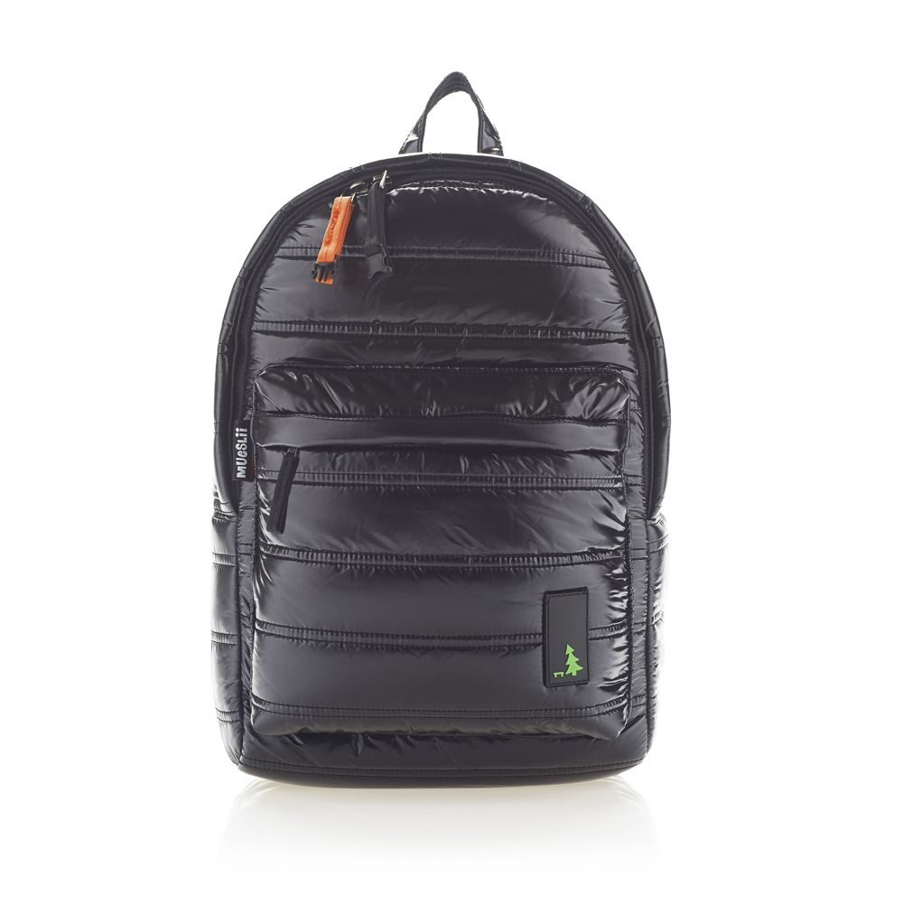 Mueslii | Black nylon backpack