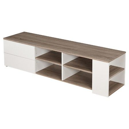 Urban TV Stand White Sonoma Oak Downstairs Pinterest