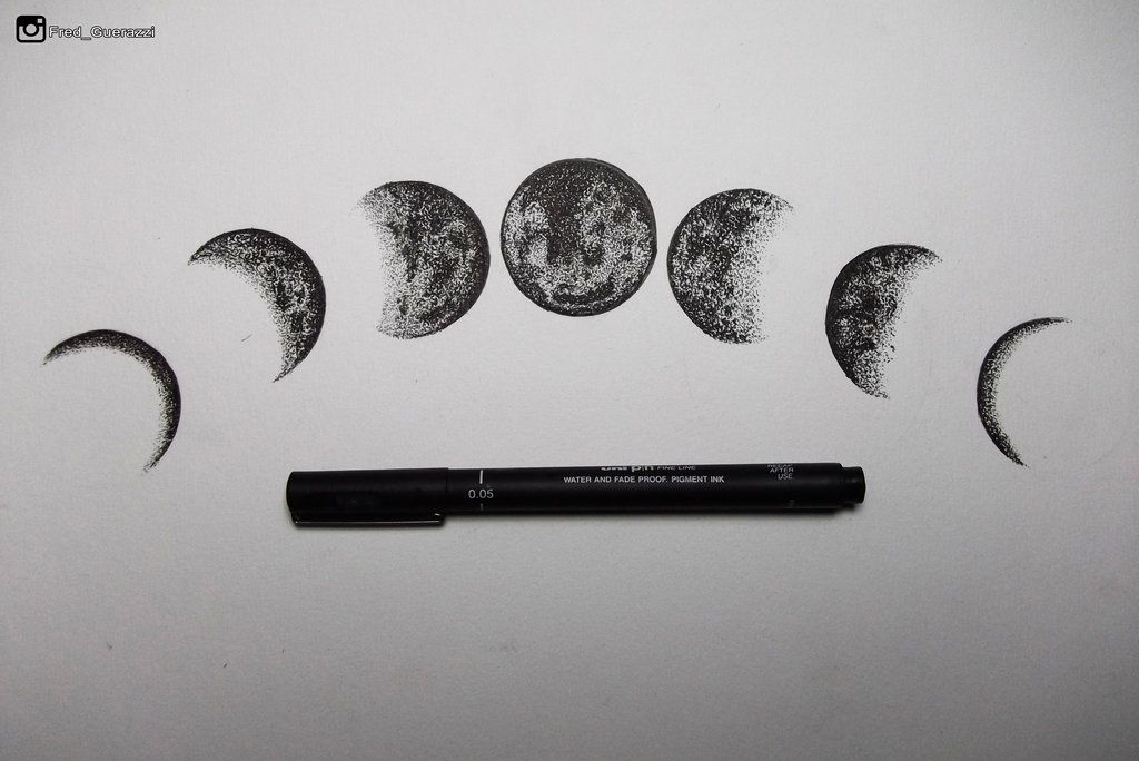 Moon Phases By Fredguerazzi On Deviantart Tatuagem De Fases Da