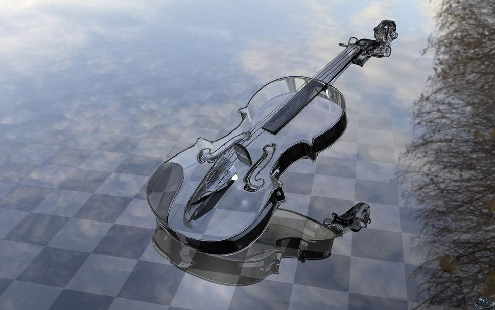 Glass Violin Wallpaper Music Violin Violin Music และ Instruments
