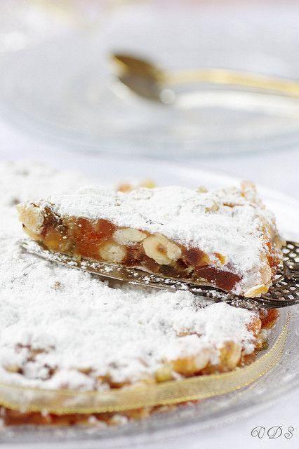 Panforte di Siena (fetta) ancien gâteau de Noël Toscan à base de fruits secs,miel et épices