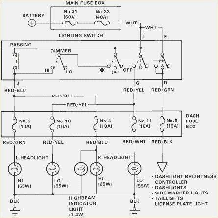 Honda Civic 2003 Headlight Wiring Diagram
