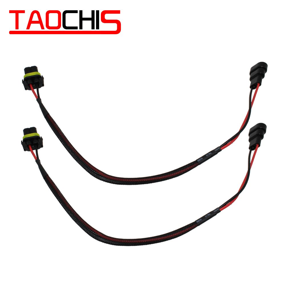 Taochis Hid Xenon Hb3 Hb4 Extension 9005 9006 Connector Wiring Harness 40cm Adapters Male Female Hid Xenon Accesorries Connector