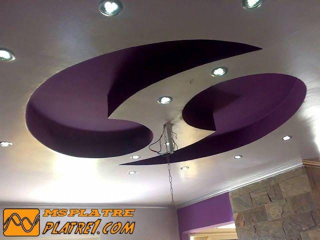 Nouveau faux plafond de chambre a coucher pour les filles for Placoplatre decoration plafond