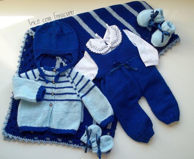 Tricô com Frescura- Moda e Enxoval para Bebes  Enxoval de Bebê Menino 5c681d52d5b