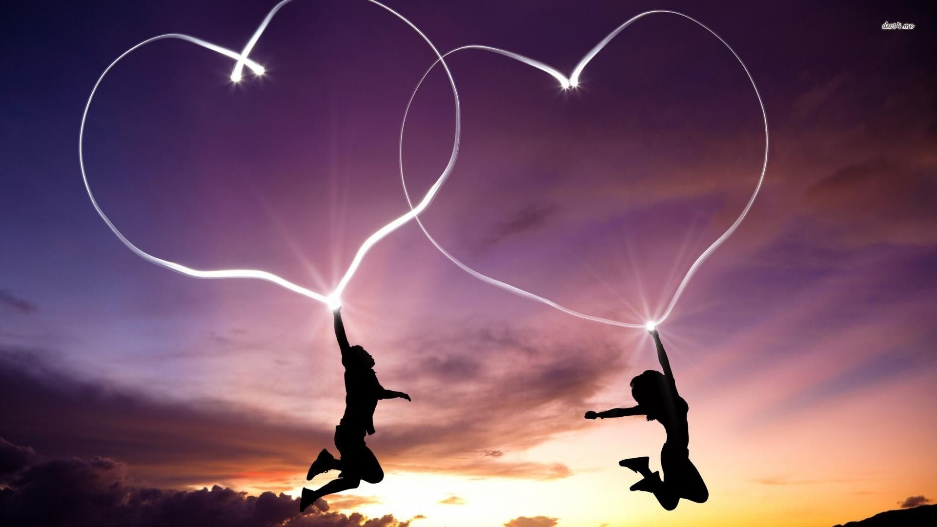 Glowing Hearts Hd Wallpaper Love Wallpaper Download Love