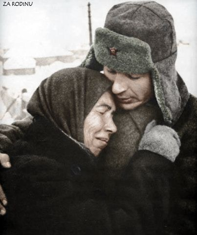 Mother and Son. Son is off to the front Nov.1941