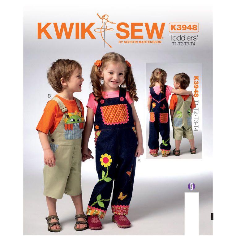 Kwik Sew Toddlers Overalls Pattern | Boys | Pinterest | Kwik sew ...