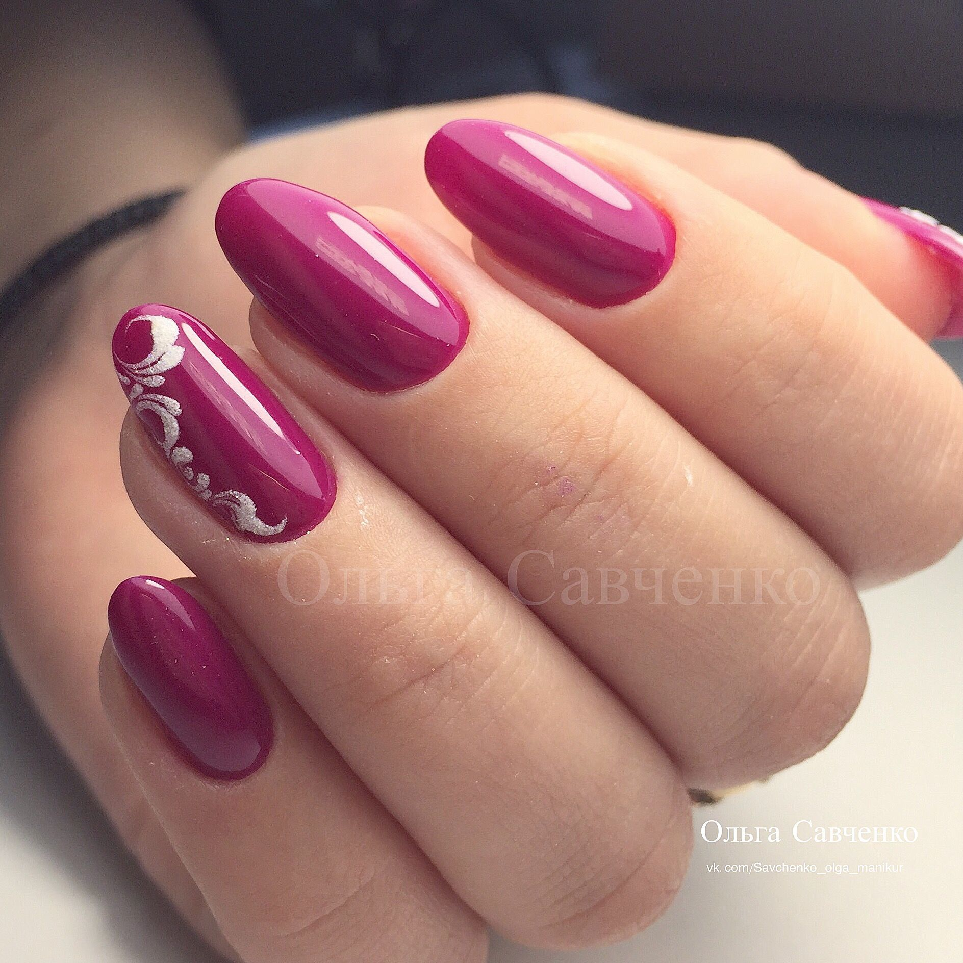 perfect application of polish; not fond of color, but beautifully crafted