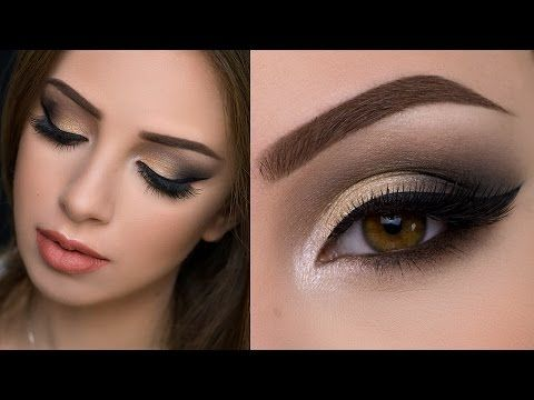 Gold & Black Halo Smokey Eyes | Amys Makeup Box - YouTube ...
