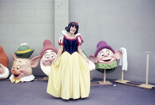 Very rare photo of pieces of Disneyland costumes. Photos like this are very hard to come by.