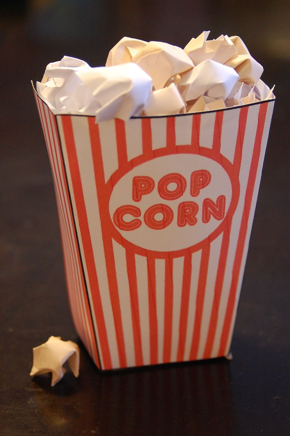 DIY fake popcorn! How clever!   Trouble Under the Big Top ...