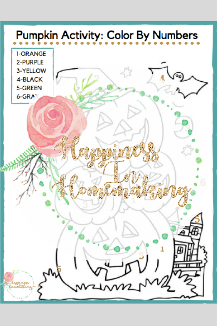 Free Two-Page Printable Fall Color-By-Numbers Activity - Happiness ...