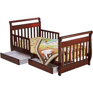 Dream on Me Sleigh Toddler Bed, Cherry