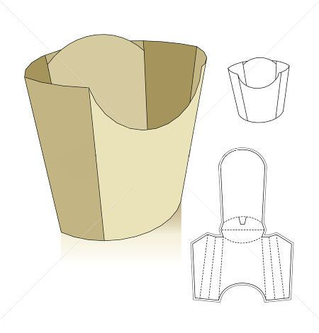 french fries box | Box | Pinterest | French fries, Carton box and ...