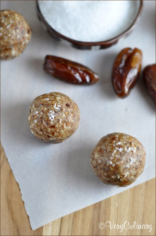 Date and Nut Butter Balls - naturally sweetened with dates and full of delicious nuts; packed full of nutrients, protein, and fiber to give you fuel for the day | Very Culinary