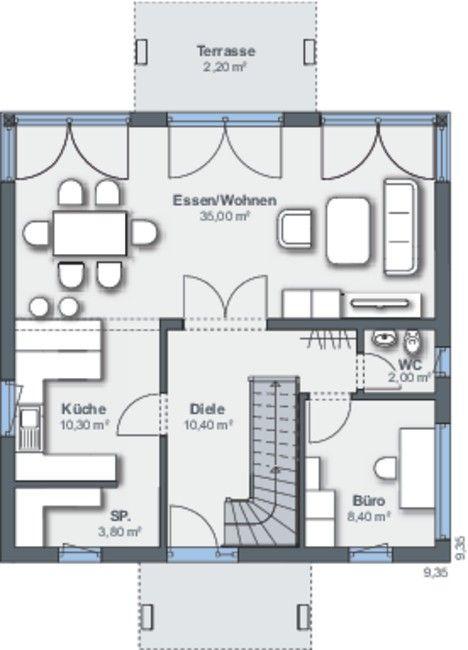 Weber Haus - City Life Grundriss Einfamilienhaus Pinterest - badezimmer grundriss planen