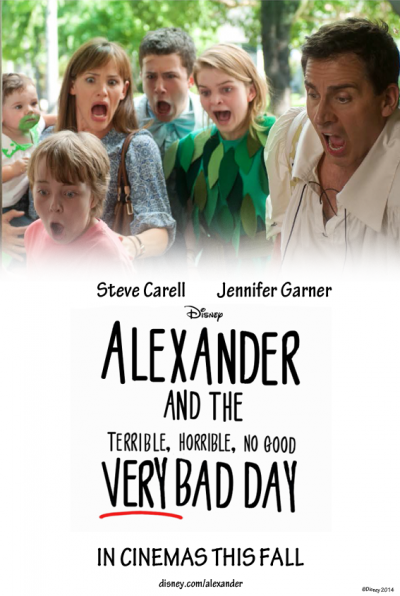 Alexander And The Terrible Horrible No Good Very Bad Day Movie Trailer Steve Carell Very Bad Disney Films