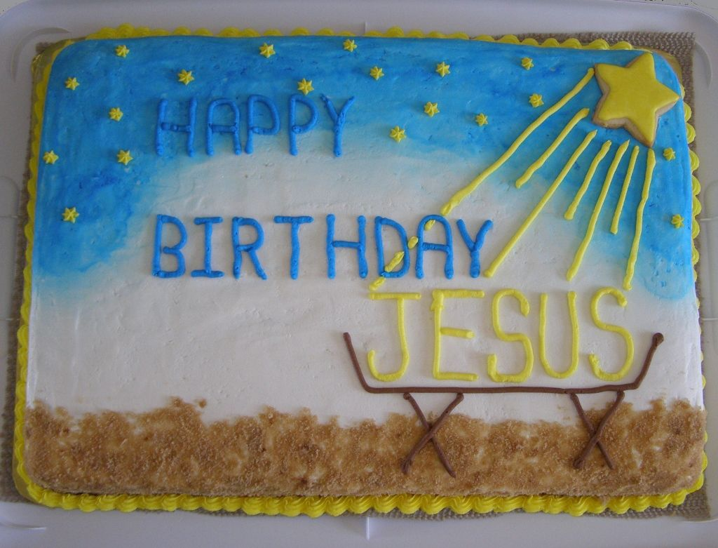 Happy Birthday Jesus Christmas Cake