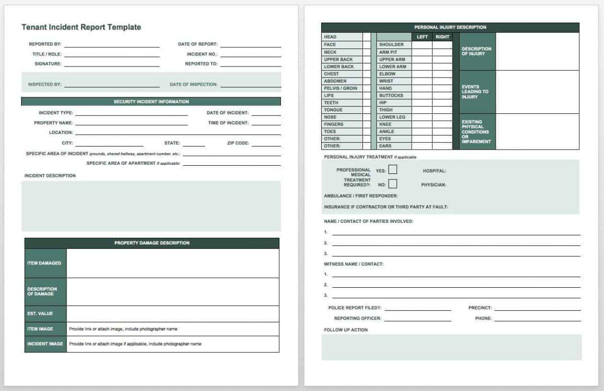 Free Incident Report Templates & Forms Smartsheet
