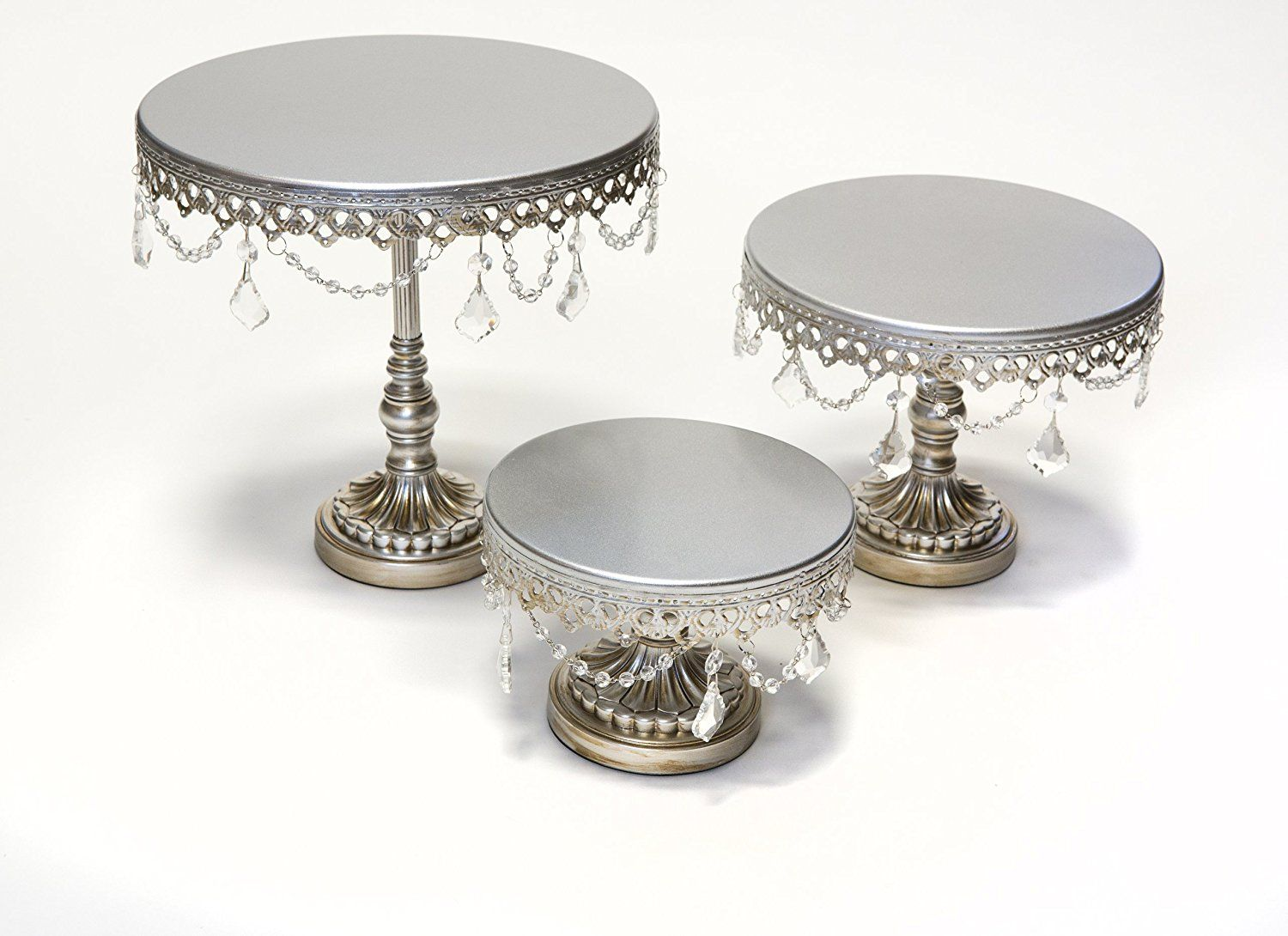 Opulent treasures round cake plate stands set of house of our