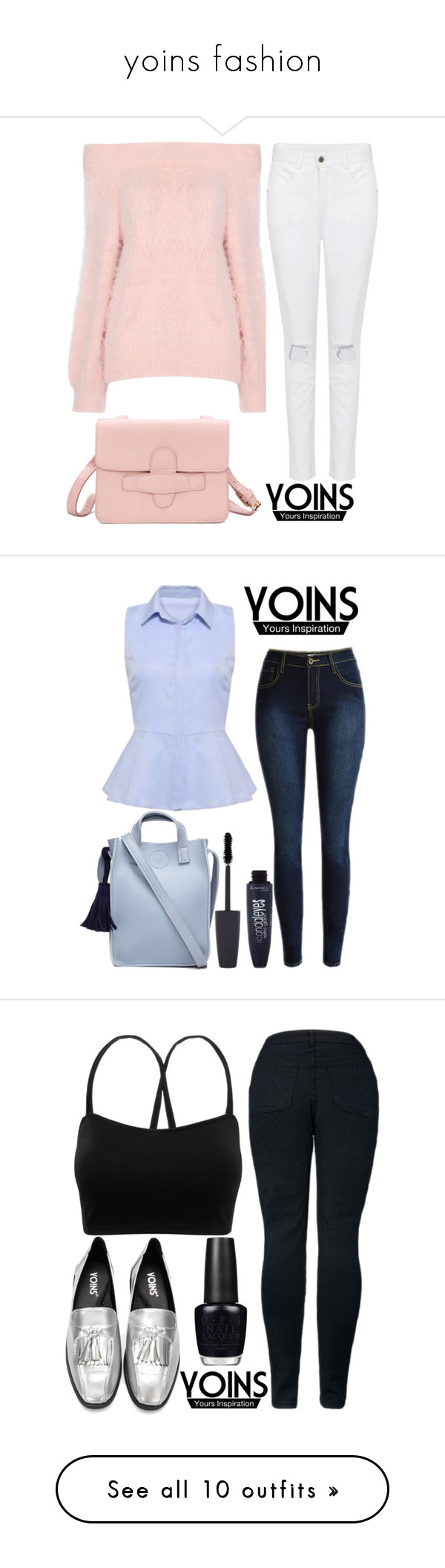 """""""yoins fashion"""" by j-n-a ❤ liked on Polyvore featuring yoins, yoinscollection, loveyoins, Rimmel, OPI, NYX, Lancôme, Essence, Yves Saint Laurent and Christian Dior"""