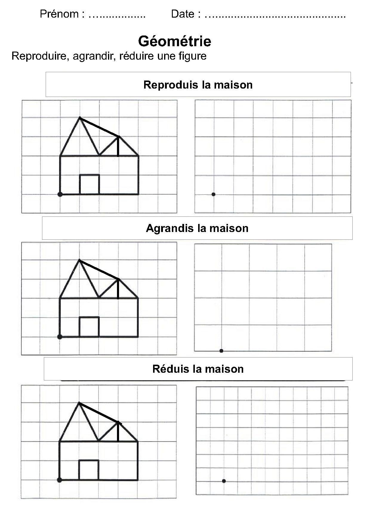 Geometrie Ce1 Ce2 La Symetrie Reproduire Une Figure