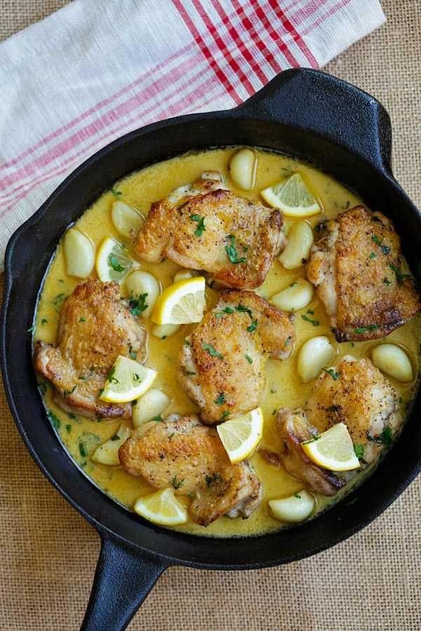 Sahniges Zitronen-Knoblauch-Huhn #creamygarlicchicken