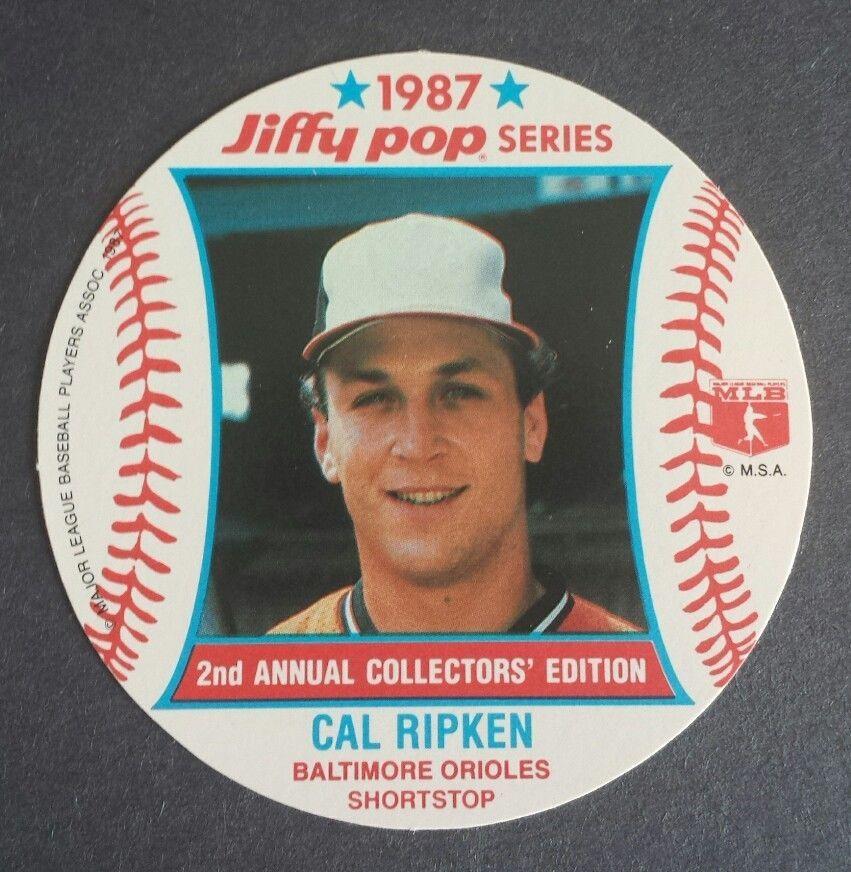 Cal Ripken Jr Baltimore Orioles 1987 8 Jiffy Pop Disc Baseball