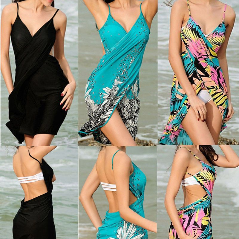 1bf2c6b54a Charm Women Chiffon Beach Bikini Cover Up Wrap Scarf Pareo Swimwear Sarong  Dress #Swimwear Soft and silky touching match with all swimwear. 1 ?