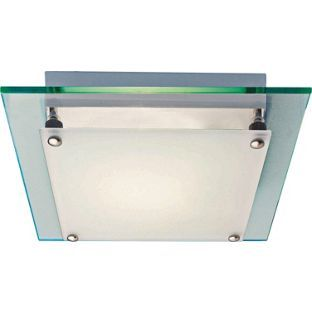 Buy Square Glass Flush Fitting White At Argos Co Uk Your Online Shop For Ceiling And Wall