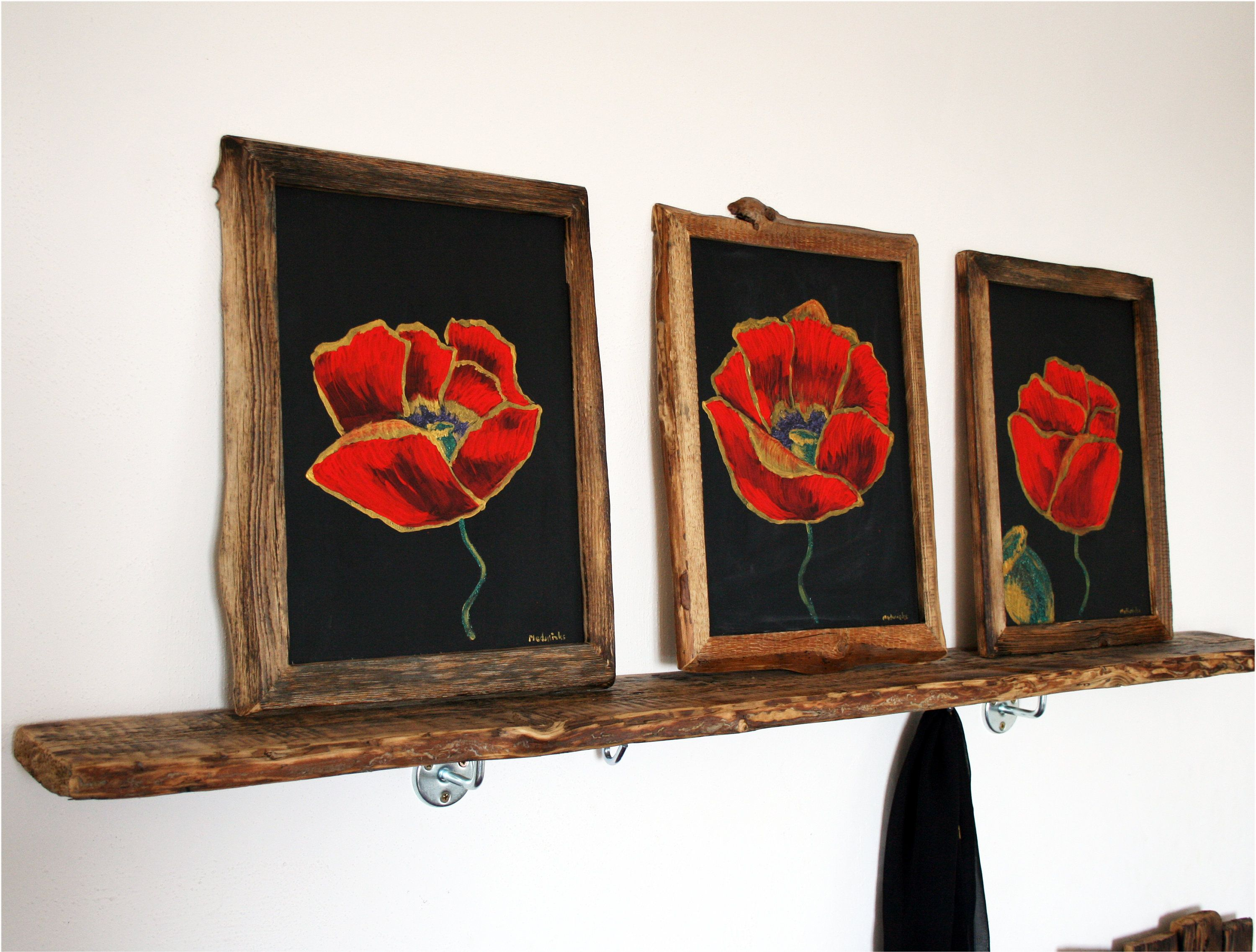 Red poppies painting x