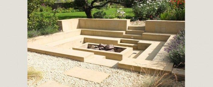 versunkene feuerstellen naturschutz innenhfe mageschneiderte kamine case study backyards - Versunkene Feuerstelle Designs