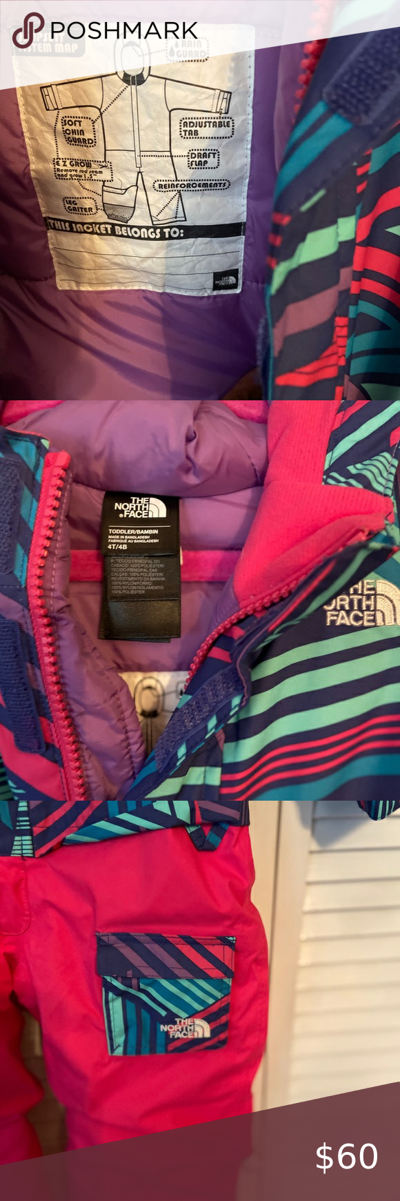 North Face Toddler 4t Snowsuit North Face Toddler Snowsuit Extendable Sleeves And Leg For Length The North Face Ja Snow Suit Toddler Snowsuit North Face Girls [ 1740 x 580 Pixel ]