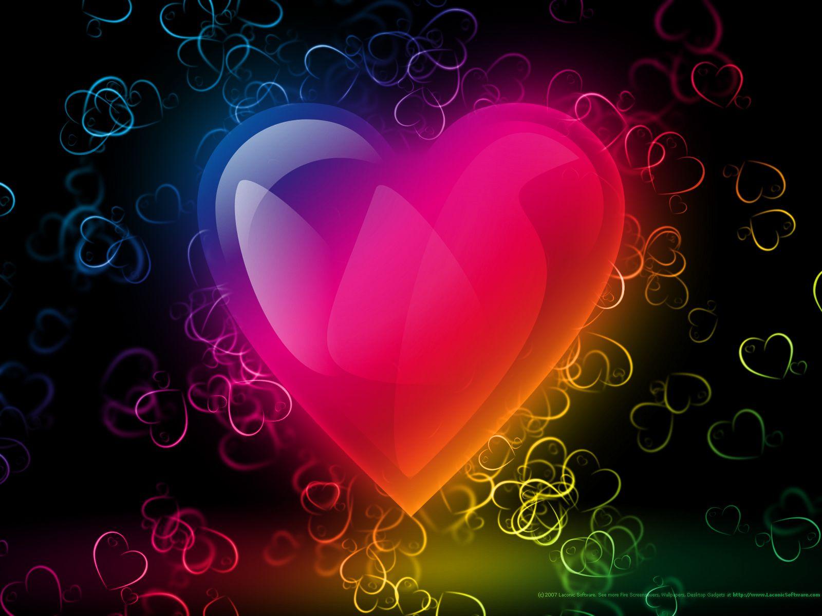 Картинки много ярких сердечек