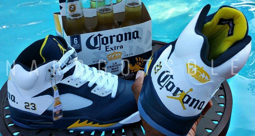 "brand new 99579 69030 Air Jordan 5 ""Corona"" Custom by Nard Got Sole"