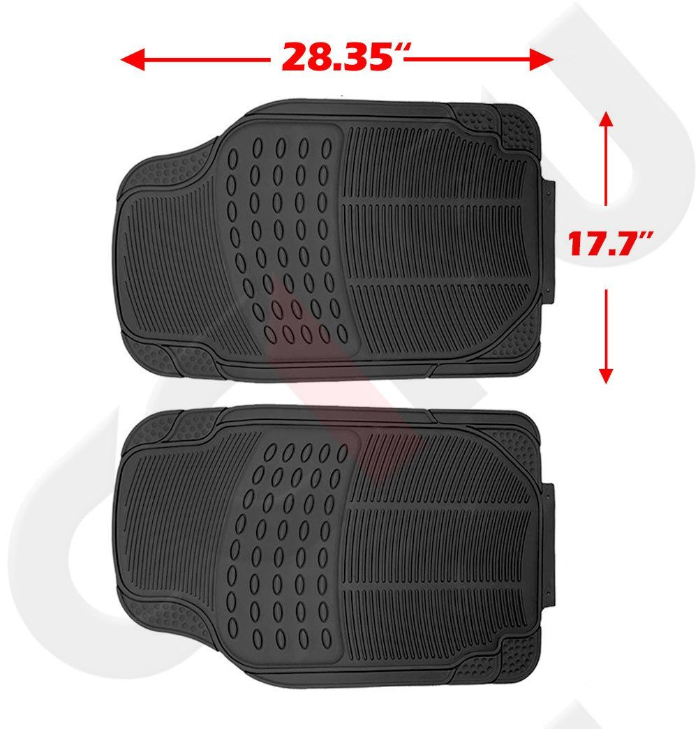 cciyu Set of 4 PCS Heavy Duty Rubber Floor Mats Fit SUV