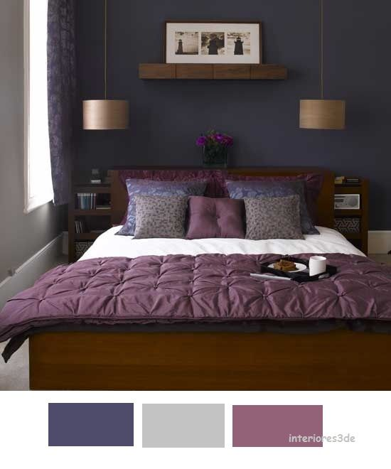 Dormitorios Con Acentos En Morado P�rpura Y Lila: Dormitorios Con Pared Azul - Google Search