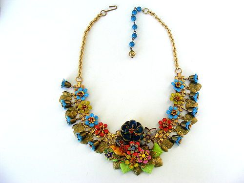another view- Vintage Necklace Floral Miriam Haskell Style | eBay