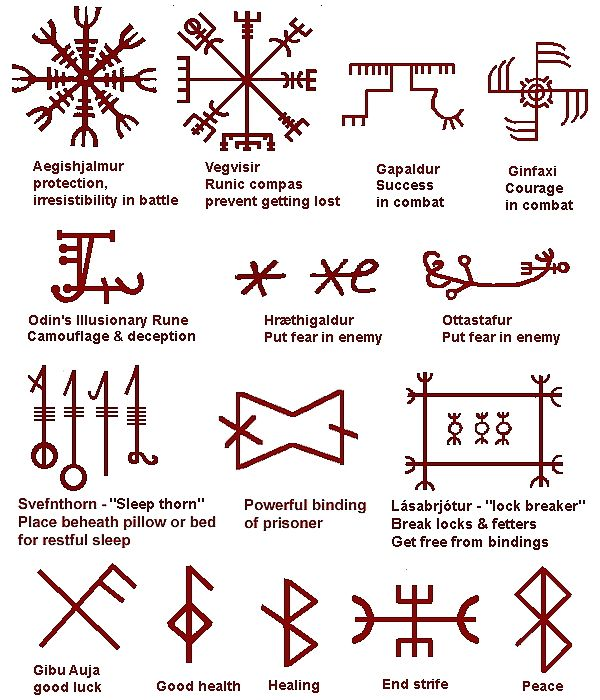 Cherokeeindianwarriortattoos Rune Charms For Warriors And For